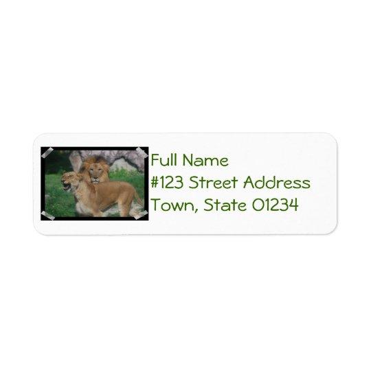 Lion Couple Return Address Label