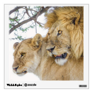 Lion Couple Wall Decal