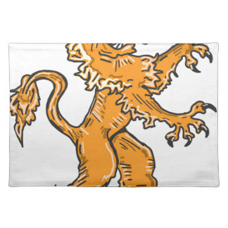 Lion Creature Sketch Vector Placemat