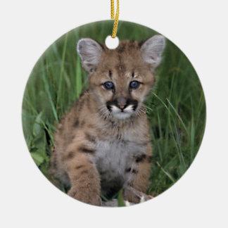 Lion Cub Ceramic Ornament