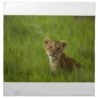 Lion Cub In The Tall Grass Napkin