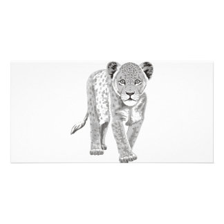 Lion Cub Personalized Photo Card