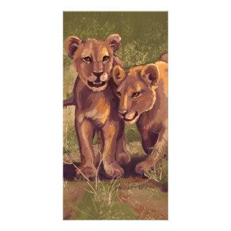 Lion Cubs Picture Card