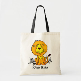 Lion cute big cat library bag