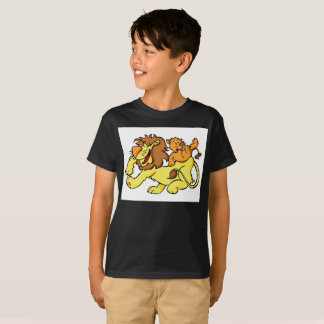 Lion Dad And Son Happy Memories Kids T-Shirt