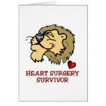 Lion de survivant de chirurgie cardiaque cartes de vœux