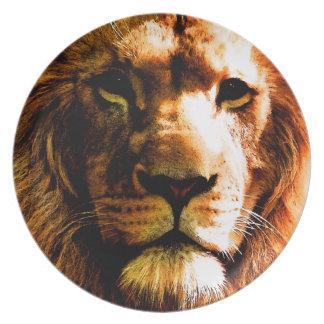 Lion Dinner Plates