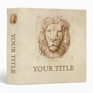 Lion Drawing, Technical Vinyl Binders