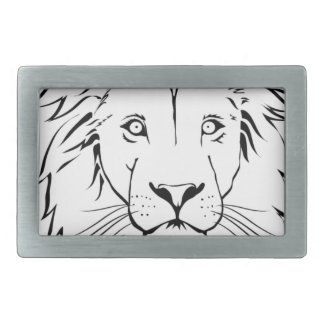 lion drawing vector design belt buckle