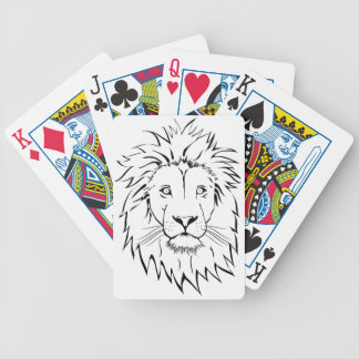 lion drawing vector design bicycle playing cards