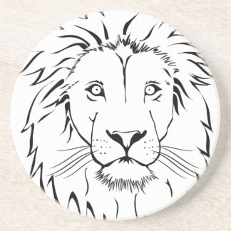 lion drawing vector design coaster
