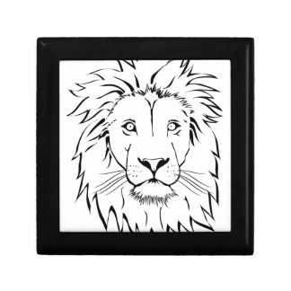 lion drawing vector design gift box