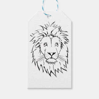lion drawing vector design gift tags