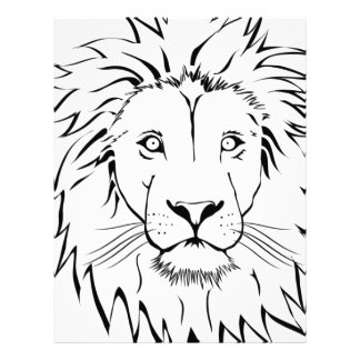 lion drawing vector design letterhead