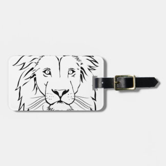 lion drawing vector design luggage tag