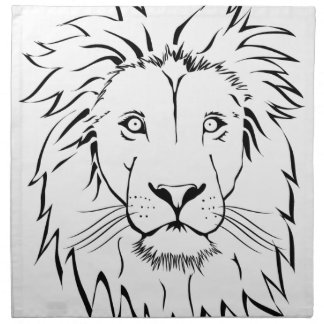 lion drawing vector design napkin