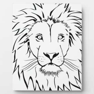 lion drawing vector design plaque
