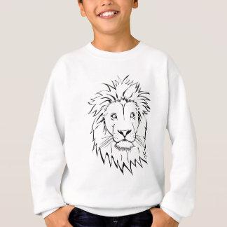 lion drawing vector design sweatshirt