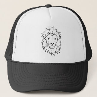 lion drawing vector design trucker hat