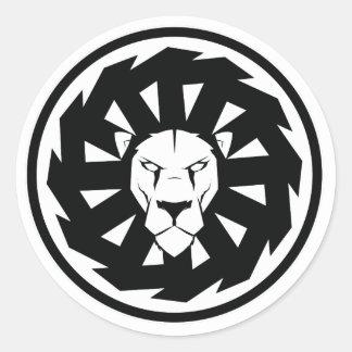 Lion emblem classic round sticker