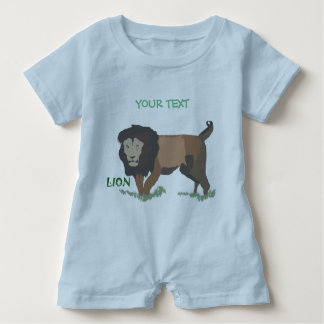 lion enjoys the forest baby romper