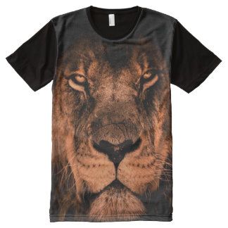 Lion Face All-Over-Print T-Shirt