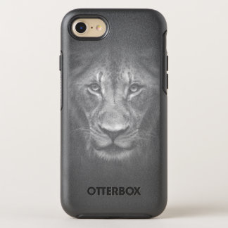 Lion Face Close Up Black and White Portrait OtterBox Symmetry iPhone 7 Case