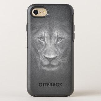 Lion Face Close Up Black and White Portrait OtterBox Symmetry iPhone 8/7 Case