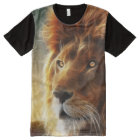 Lion face .King of beasts abstraction All-Over-Print T-Shirt