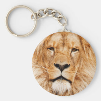 Lion Face Photograph Keychain