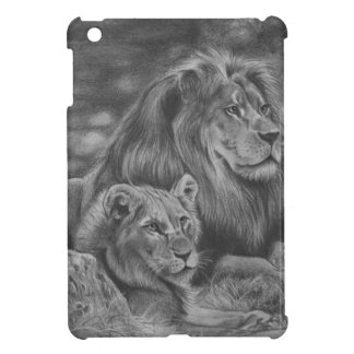 Lion family iPad mini covers
