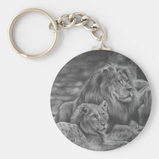 Lion family keychain