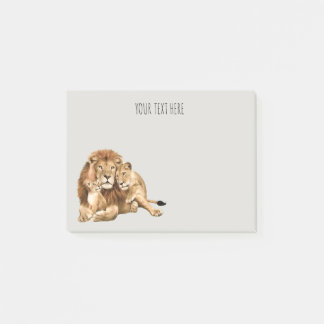 Lion Family Personalized Post It Notes