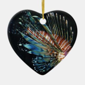 Lion fish ceramic ornament