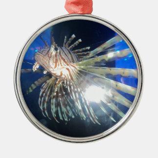 Lion fish metal ornament