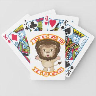 Lion Free Hugs Bicycle Playing Cards