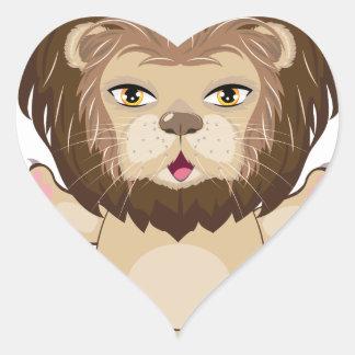 Lion Free Hugs Heart Sticker