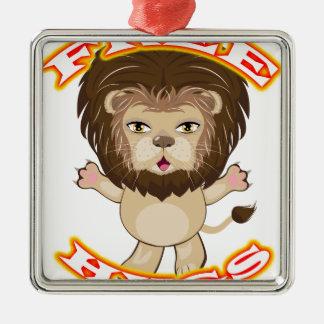 Lion Free Hugs Metal Ornament
