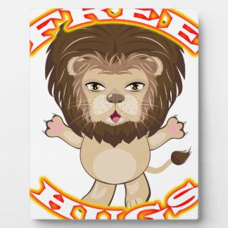 Lion Free Hugs Plaque