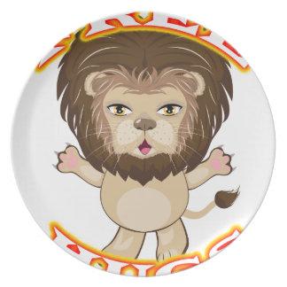 Lion Free Hugs Plate