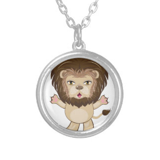 Lion Free Hugs Silver Plated Necklace