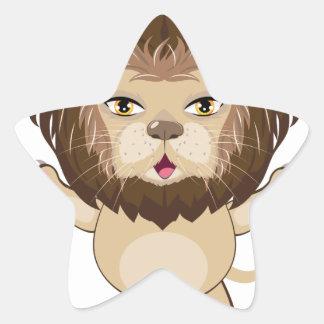 Lion Free Hugs Star Sticker
