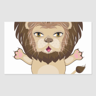 Lion Free Hugs Sticker