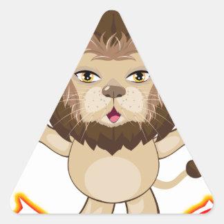 Lion Free Hugs Triangle Sticker