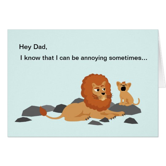 Lion Funny Father's Day Card