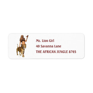 Lion Girl Return Address Label