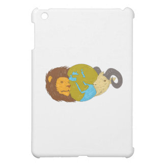 Lion Goat Head Middle East Map Globe Drawing Case For The iPad Mini