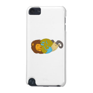 Lion Goat Head Middle East Map Globe Drawing iPod Touch (5th Generation) Covers