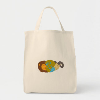 Lion Goat Head Middle East Map Globe Drawing Tote Bag