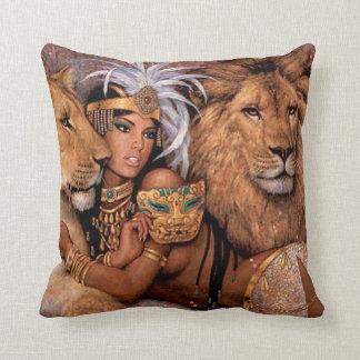 Lion Goddess Egyptian Princess Pillow